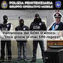 Il GOM festeggia 20 anni di attività: il Generale D'Amico ringrazia gli uomini della Polizia Penitenziaria