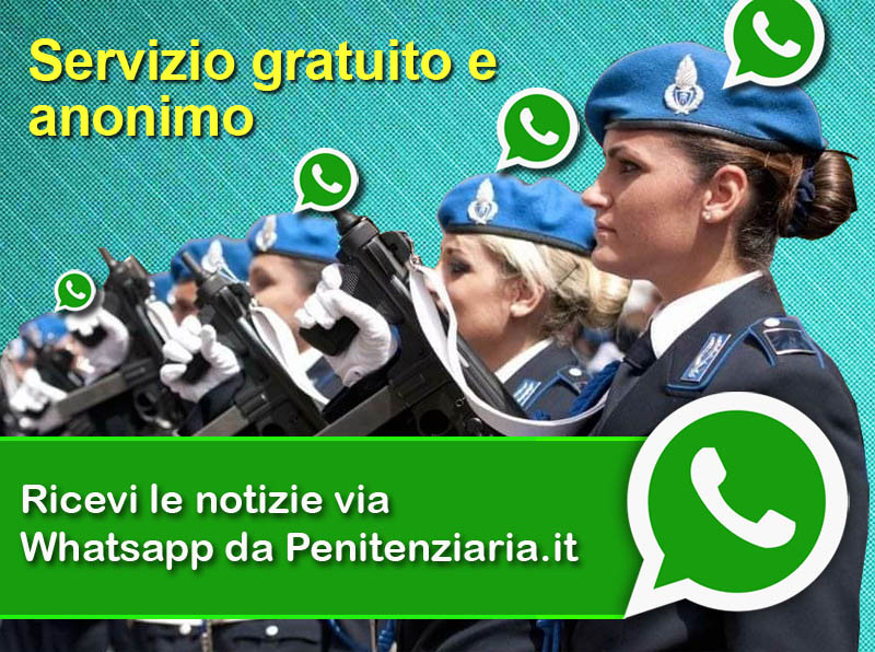 Ricevi notizie whatsapp da Penitenziaria.it